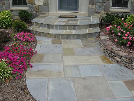 flagstone walkways premium lawn and landscape